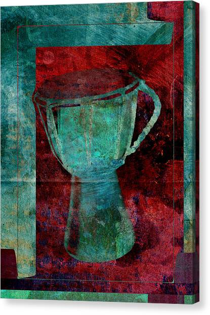 Djembe Canvas Print - Tam Tam Djembe - S22c by Variance Collections