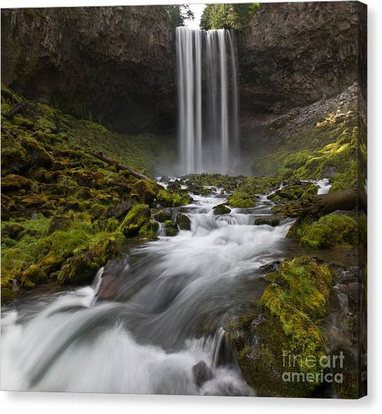 Tamawanas Falls In Summer Canvas Print by Jackie Follett