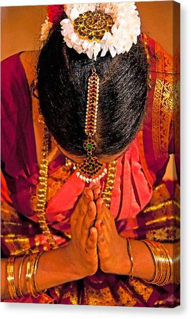 Tamil Nadu Dancer Canvas Print
