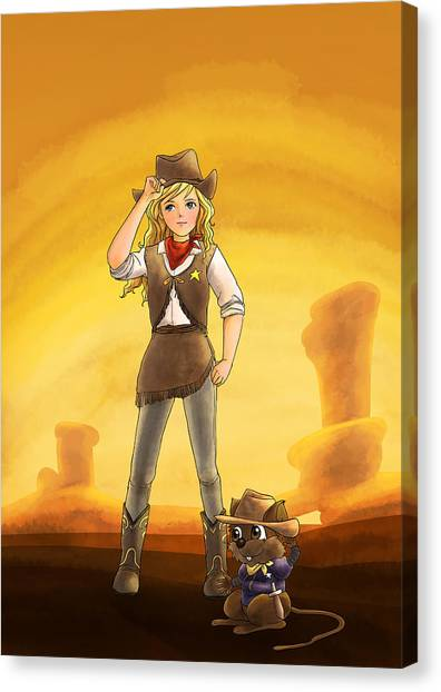Tammy And Alfred Tame The West Canvas Print