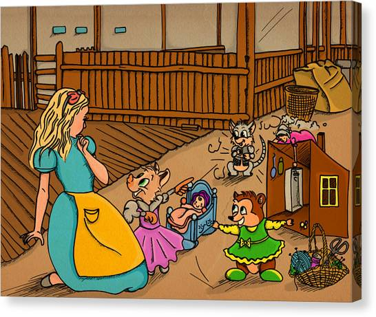 Tammy's Backyard Canvas Print
