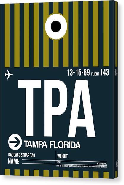 Florida Canvas Print - Tampa Airport Poster 1 by Naxart Studio
