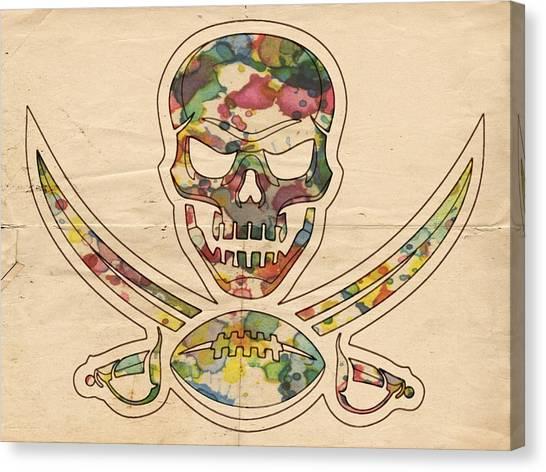 Tampa Bay Buccaneers Canvas Print - Tampa Bay Buccaneers Poster Vintage by Florian Rodarte
