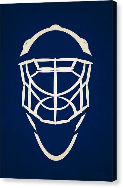 Tampa Bay Lightning Canvas Print - Tampa Bay Lightning Goalie Mask by Joe Hamilton