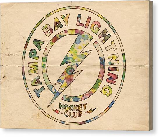 Tampa Bay Lightning Canvas Print - Tampa Bay Lightning Logo Art by Florian Rodarte