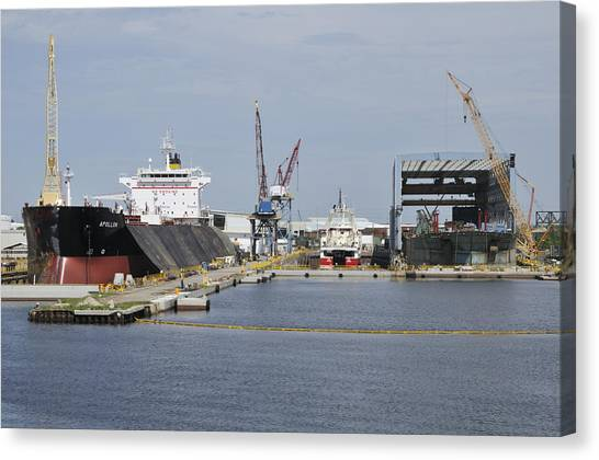 Tampa Shipyard Canvas Print