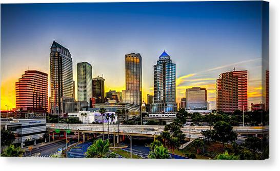 Tampa Skyline Canvas Print