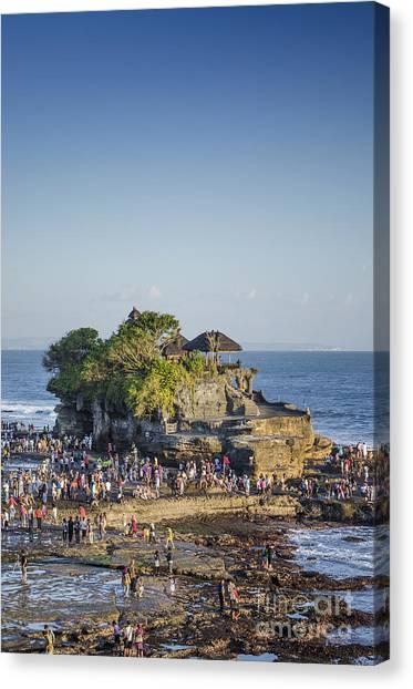 Tanah Lot Temple In Bali Indonesia Coast Canvas Print