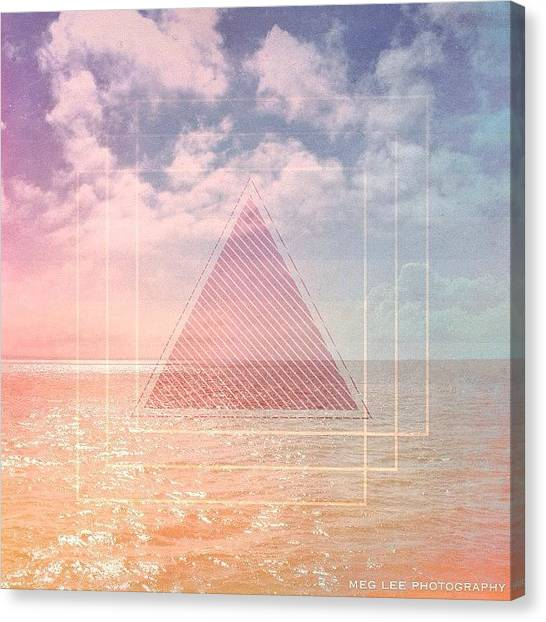 Geometric Canvas Print - #tangent #tangentapp #mextures by Meg Lee Photography