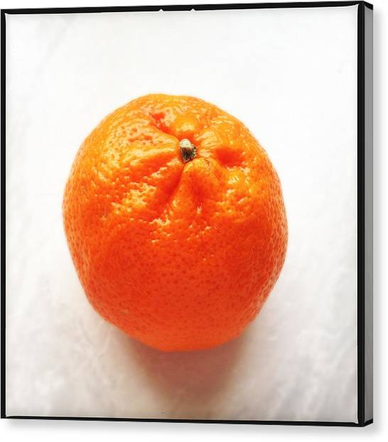 Bright Canvas Print - Tangerine by Matthias Hauser