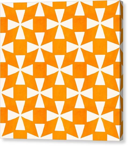 Tangerine Canvas Print - Tangerine Twirl by Linda Woods