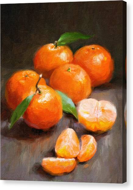Tangerine Canvas Print - Tangerines by Robert Papp