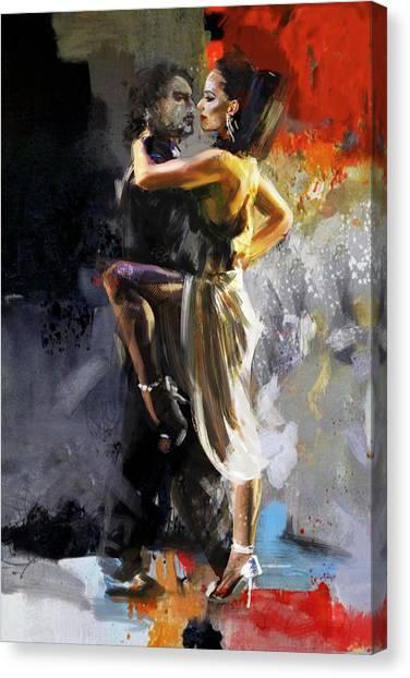 Salsa Canvas Print - Tango - 3 by Mahnoor Shah