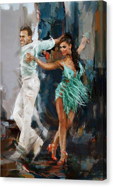 Flamenco Canvas Print - Tango 4 by Mahnoor Shah