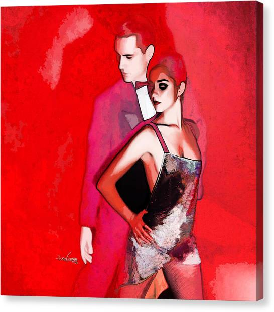 Tango Argentino - Sensual Erotic Canvas Print by Reno Graf von Buckenberg