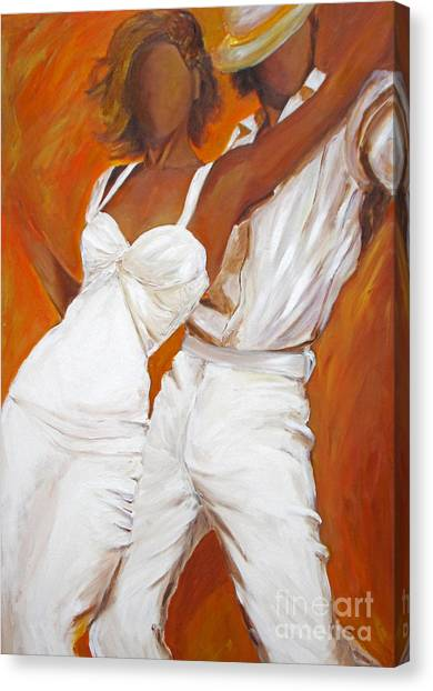 Tango Blanco Canvas Print