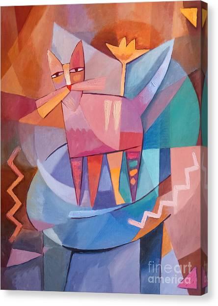 Tango Canvas Print - Tango Cat by Lutz Baar