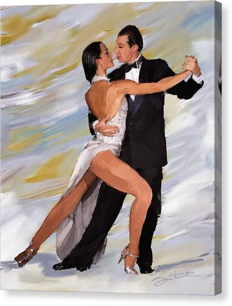 Tango Dancers Canvas Print