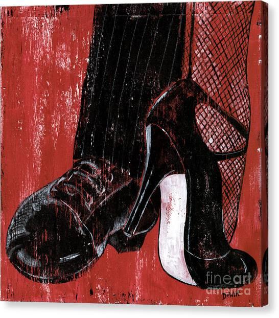 Legs Canvas Print - Tango by Debbie DeWitt