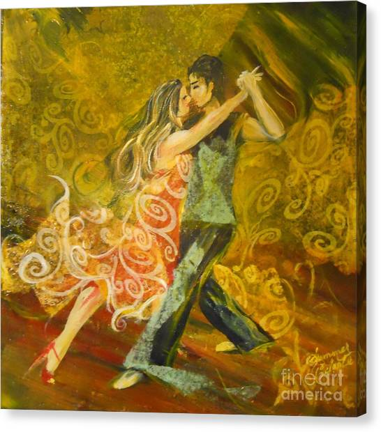 Tango Flow Canvas Print by Summer Celeste