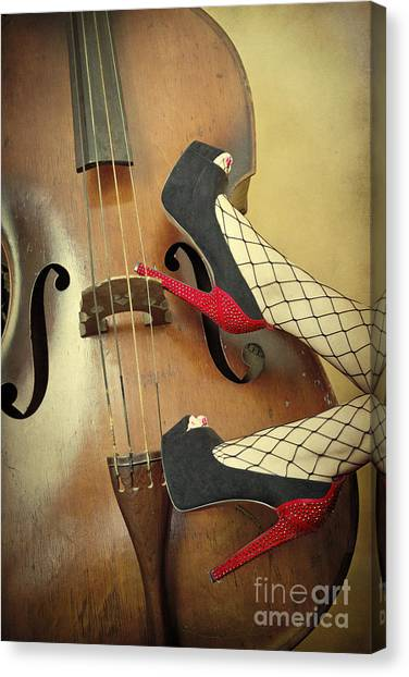 Cellos Canvas Print - Tango For Strings by Evelina Kremsdorf