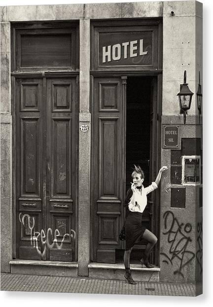 Graffiti Canvas Print - Tango by Hans Wolfgang M?ller