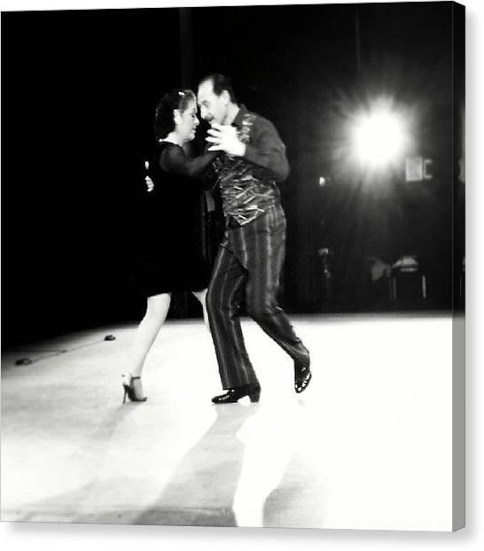 Tango Canvas Print - #tango #showtime #newyorkcity #backstage by Tiba Vieira