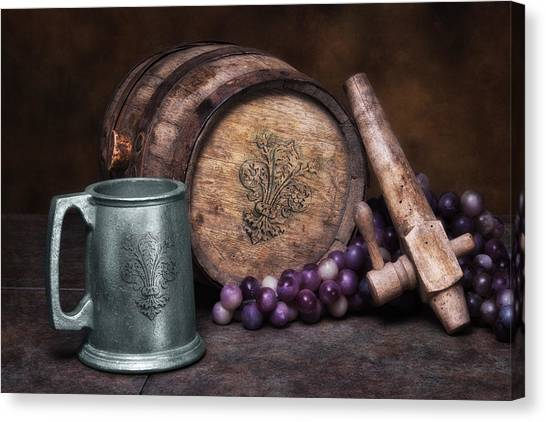 Keg Canvas Print - Tankard Of Drink Still Life by Tom Mc Nemar