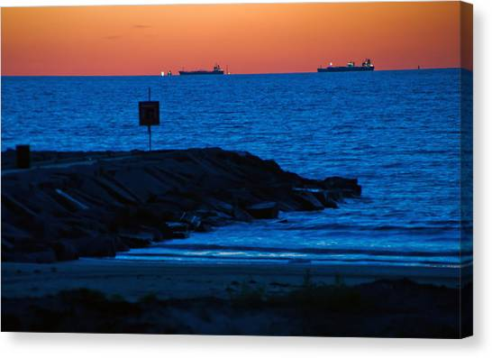 Tanker Sunrise Canvas Print
