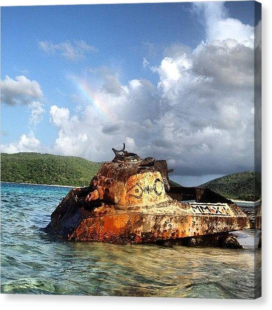 Tanks Canvas Print - Tanque Diana Para La Navy #puertorico by Jaime Grego-Mayor