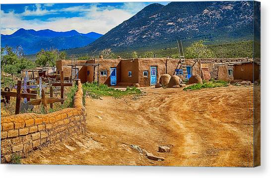 Taos Graveyard Canvas Print