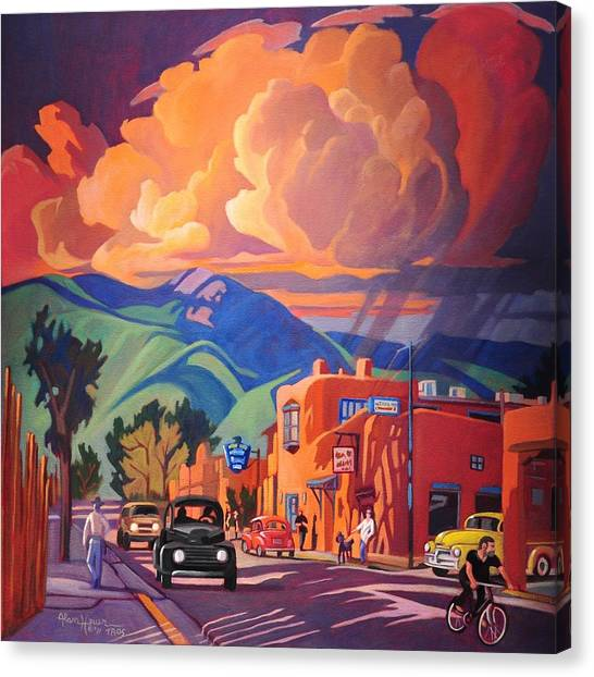 Canaries Canvas Print - Taos Inn Monsoon by Art James West