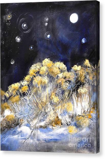 Taos Night Orbs Canvas Print