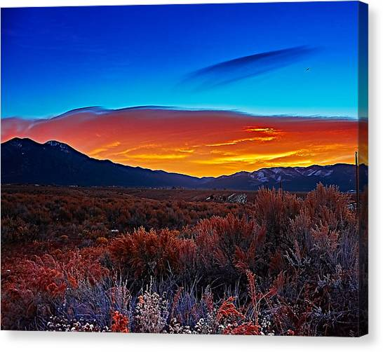 Taos Sunrise X Canvas Print