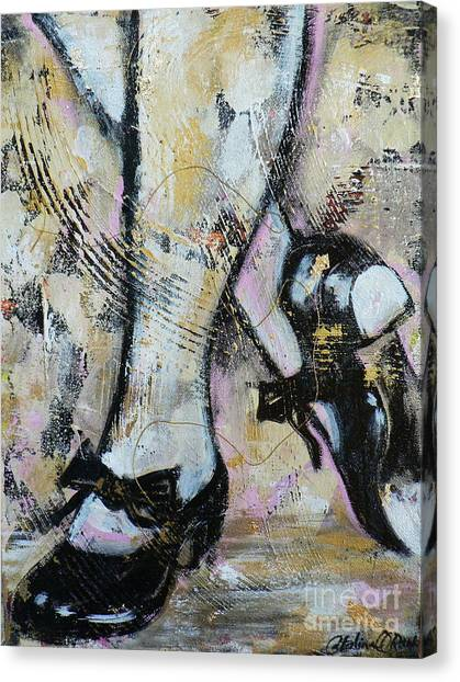 Tap Dance Canvas Print - Tap Away by Catalina Rankin