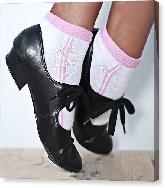 Tap Dance Canvas Print - Tap Dance Shoes From Dance Academy - Tap Point Tap by Pedro Cardona Llambias