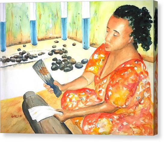 Tapa Stretch Canvas Print