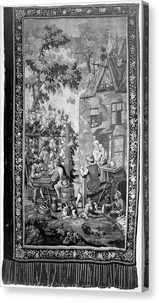 Backgammon Canvas Print - Tapestry Backgammon by Granger