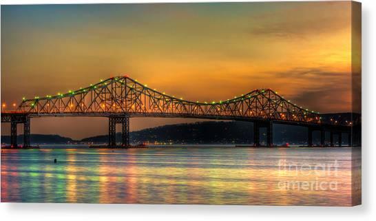 Tappan Zee Bridge Twilight Iv Panoramic Canvas Print