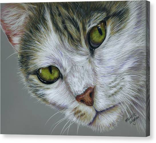 Tara Cat Art Canvas Print