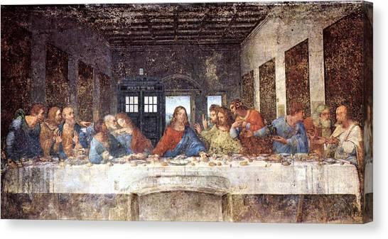 Tardis Canvas Print - Tardis V Leonardo Da Vinci by GP Abrajano