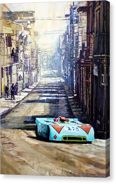 Automotive Art Canvas Print - Targa Florio 1970  Porsche 908 Siffert by Yuriy Shevchuk