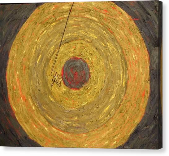 Jasper Johns Canvas Print - Target 180 Yes by Errol  Jameson
