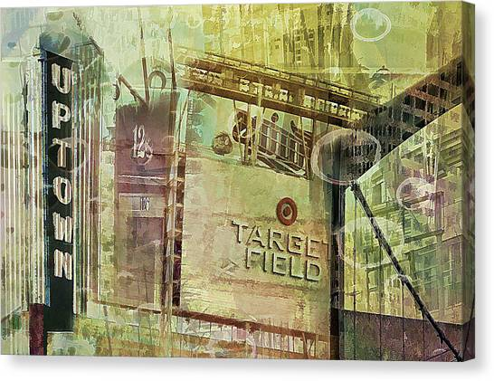 Target Field And Uptown Canvas Print