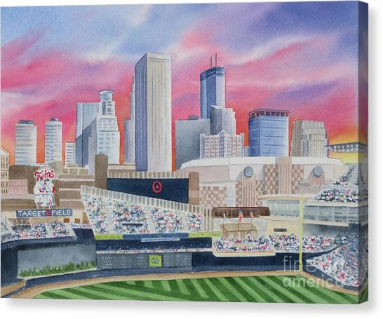 Minnesota Twins Canvas Print - Target Field by Deborah Ronglien