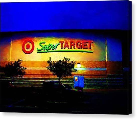 Target Super Store B Canvas Print by P Dwain Morris