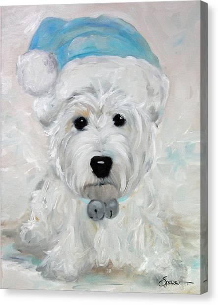 Tarheels Canvas Print - Tarheel Santa by Mary Sparrow