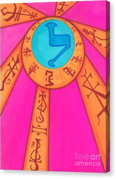 Tarot Card - Eclipse  Canvas Print