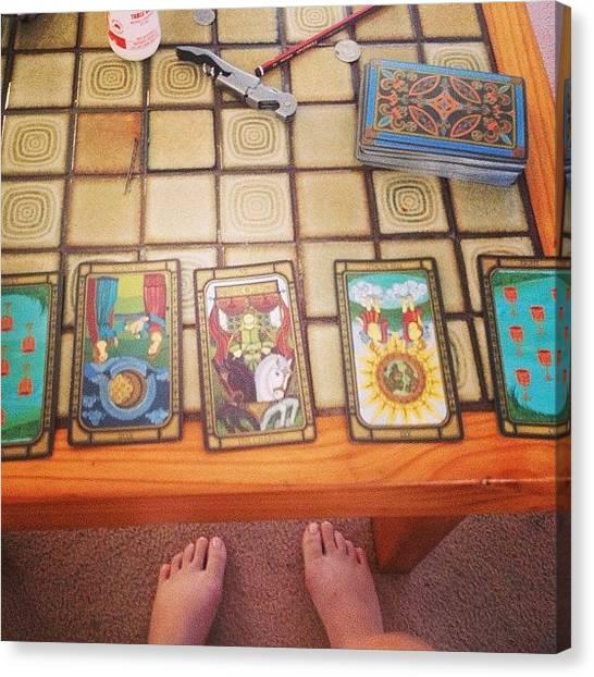 World Cup Canvas Print - Tarot Reading #cups #chariot #moon by Rachel Dear