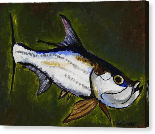 Tarpon Fish Canvas Print